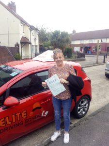 Passing the driving test Amanda gould