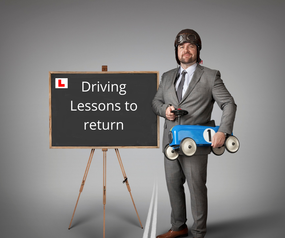 Good news, driving lessons resume