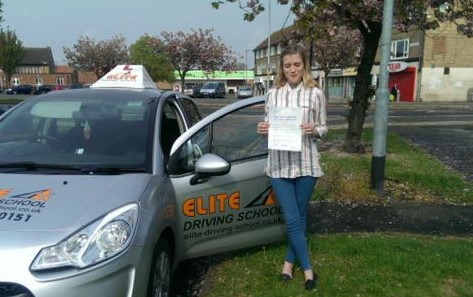 This is Caroline Goodhand who took her driving lessons in York