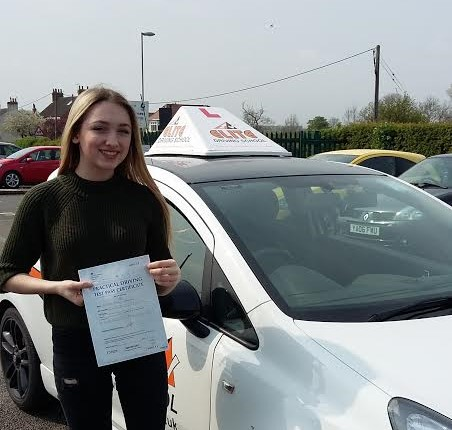 This is Olivia Drewery who took her driving lessons in Hull