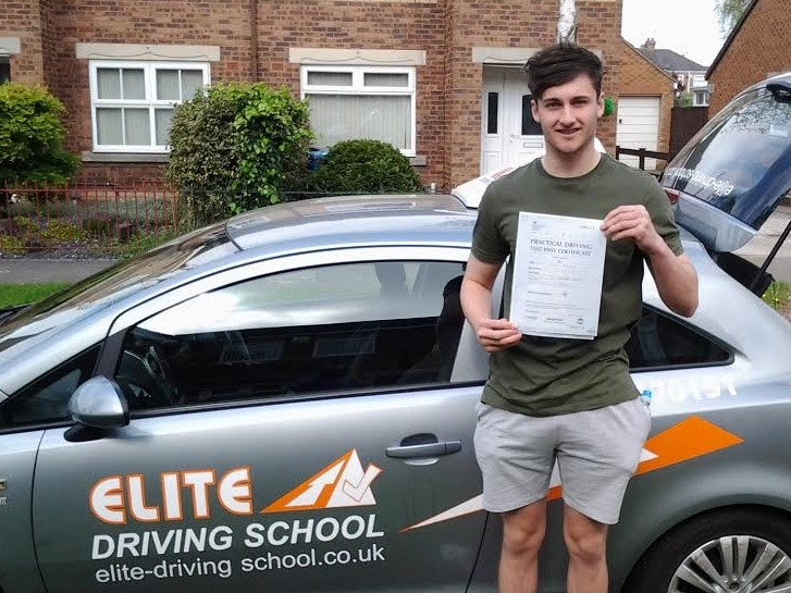 This is Liam Brooks who took his driving lessons in York
