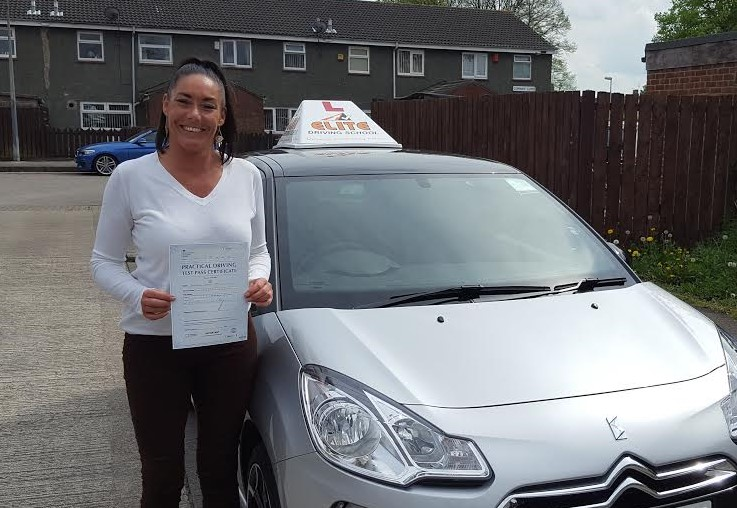 This is Liz Lodge who took her driving lessons in Hull