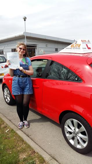 This is Adele Howlett who took her driving lessons in Hull