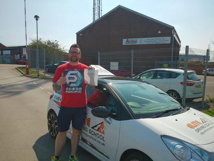 This is Andy Steels who took his driving lessons in York