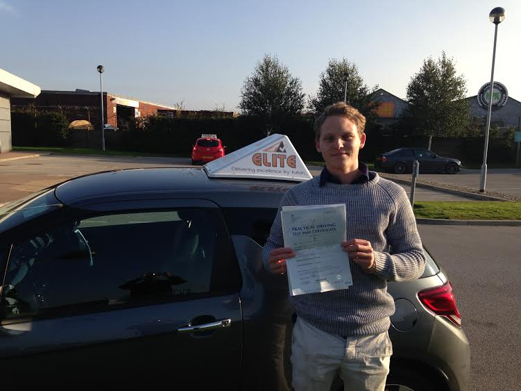 This is Ben Baldry who took his driving lessons in Hull