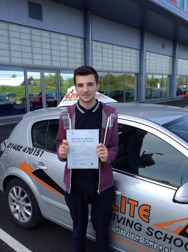 This is Daniel Norton who took his driving lessons in Hull