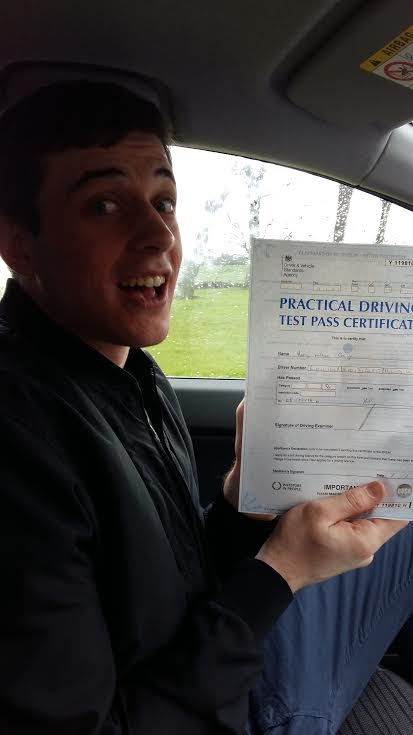 This is Harry Coughlin who took his driving lessons in Hull