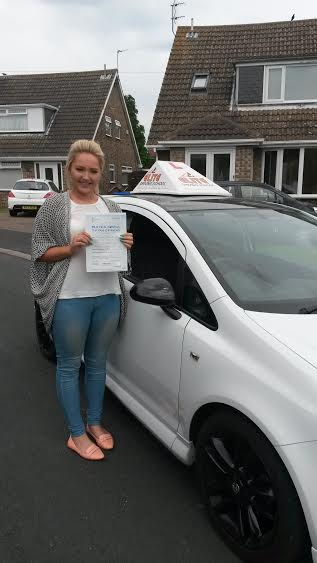This is Jodie Antcliff who took her driving lessons in York