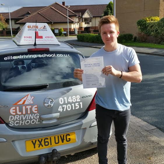 This is Joe Dodds who took his driving lessons in Hull