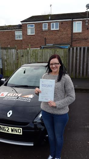 This is Kelly Monkman who took her driving lessons in Hull