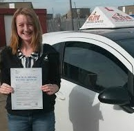 This is Kelly-Marie Russell who took her driving lessons in York