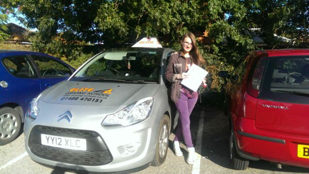 This is Kira Myers who took her driving lessons in York