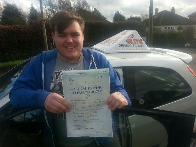 This is Kurtis Bailey who took his driving lessons in Hull