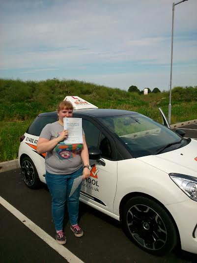 This is Lauren Turner who took her driving lessons in Hull
