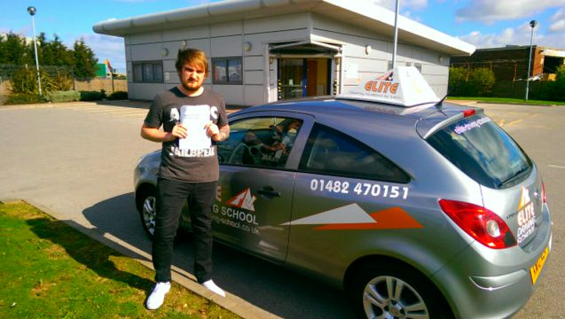 This is Sam Johnson who took his driving lessons in York