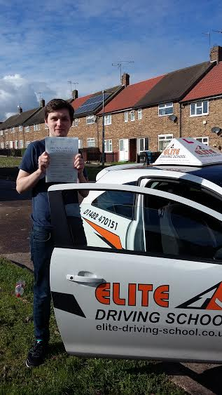 This is Aaron Smith who took his driving lessons in York