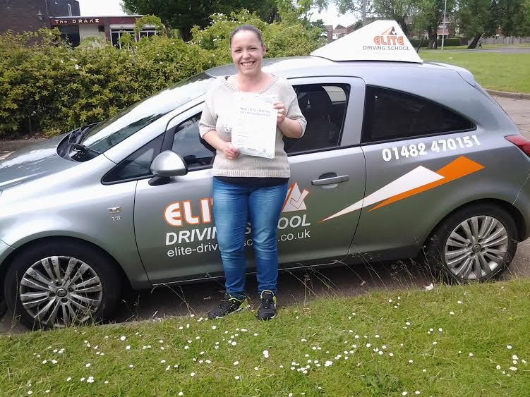 This is Charlie Atkins who took her driving lessons in York