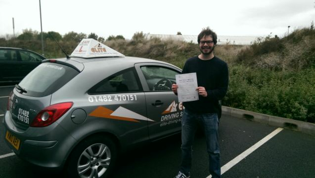 This is Craig Pinder who took his driving lessons in York