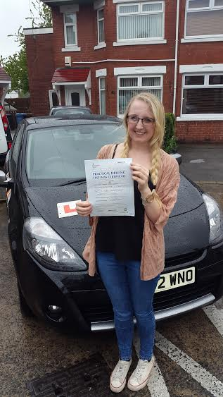 This is Emma Lazell who took her driving lessons in Hull