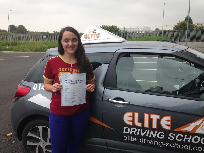 This is Enya Horton who took her driving lessons in York