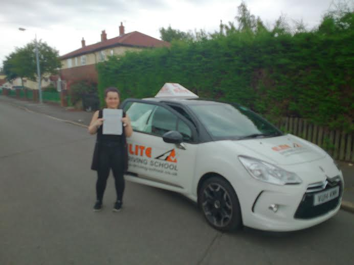 This is Georgia Stamp who took her driving lessons in Hull