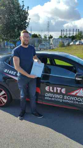 This is Jamie McClean who took his driving lessons in Hull
