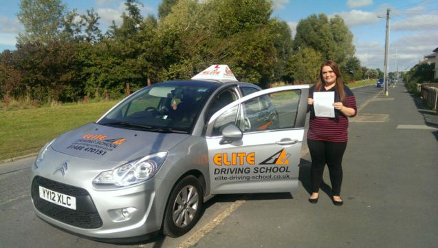 This is Jodie Walker who took her driving lessons in Hull