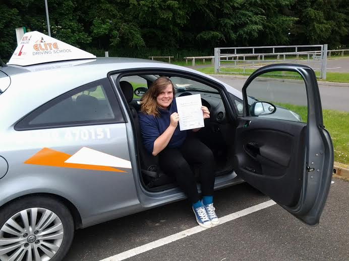 This is Kath Mundy who took her driving lessons in York