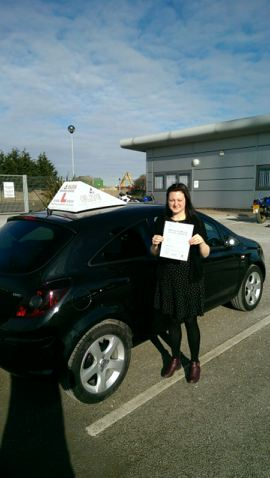 This is Kayleigh Elliott who took her driving lessons in Hull