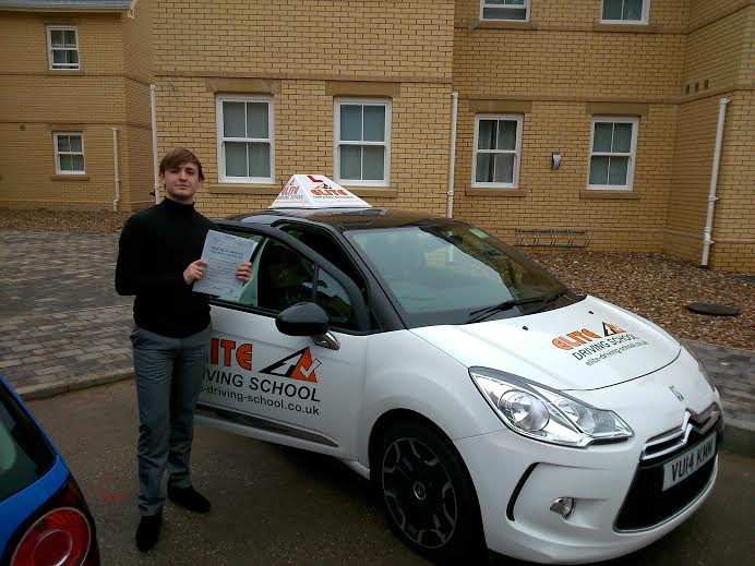 This is Lewis Morrow who took driving lessons in Hull