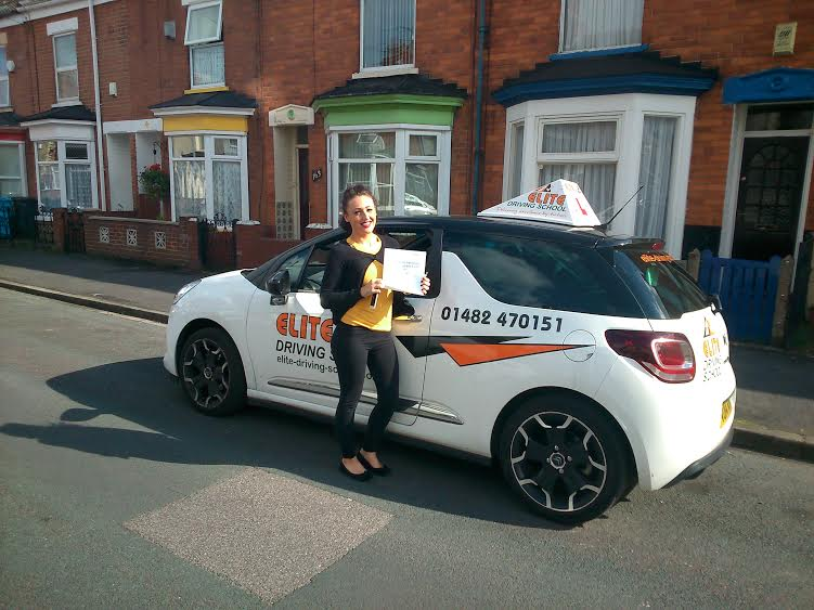 This is Sadie Shipley who took her driving lessons in Hull