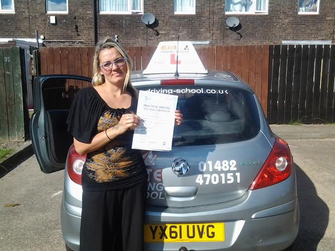 This is Sarah Clarke who took her driving lessons in York