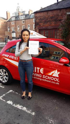 This is Vicky Smith who took her driving lessons in Hull