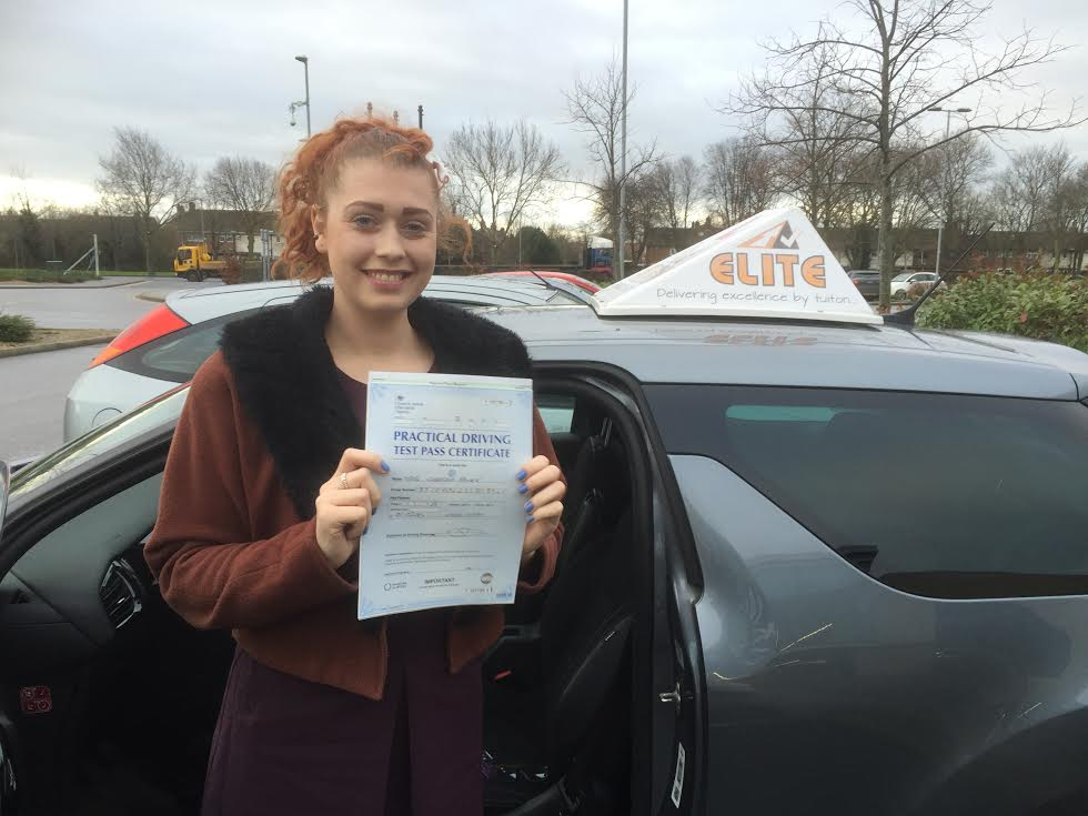 This is Chelsea Boyer who took her driving lessons in York