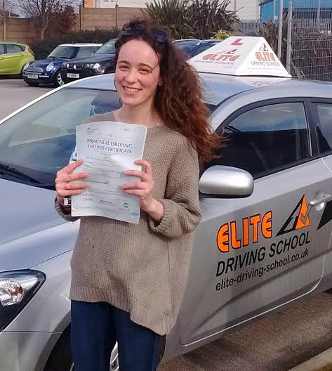 This is Enisha Ali who took her driving lessons in York