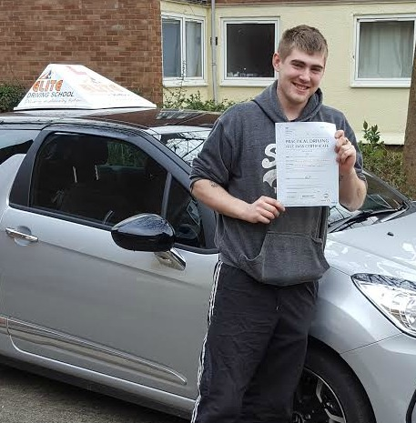 This is James Butler who took his driving lessons in Hull
