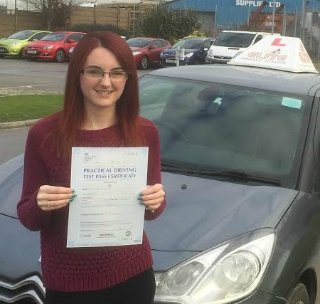 This is Katie Miles who took her driving lessons in York