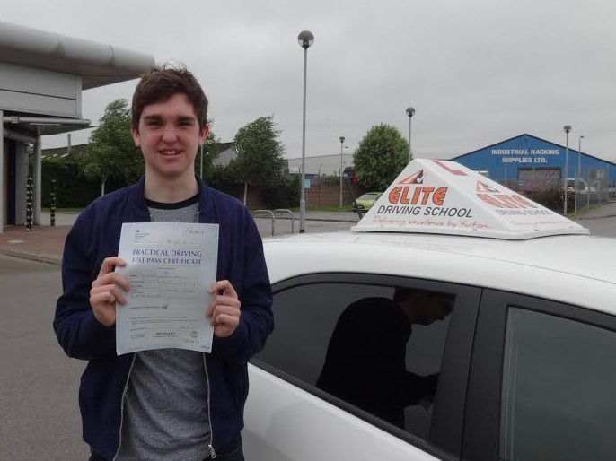 This is Joshua Woods who took his driving lessons in York