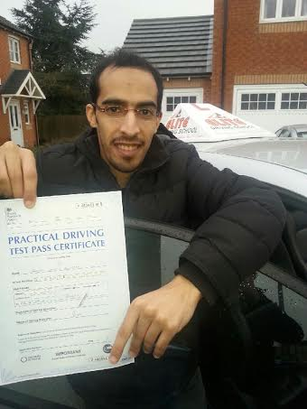 This is Ahmad Alzahrani who took his driving lessons in Hull