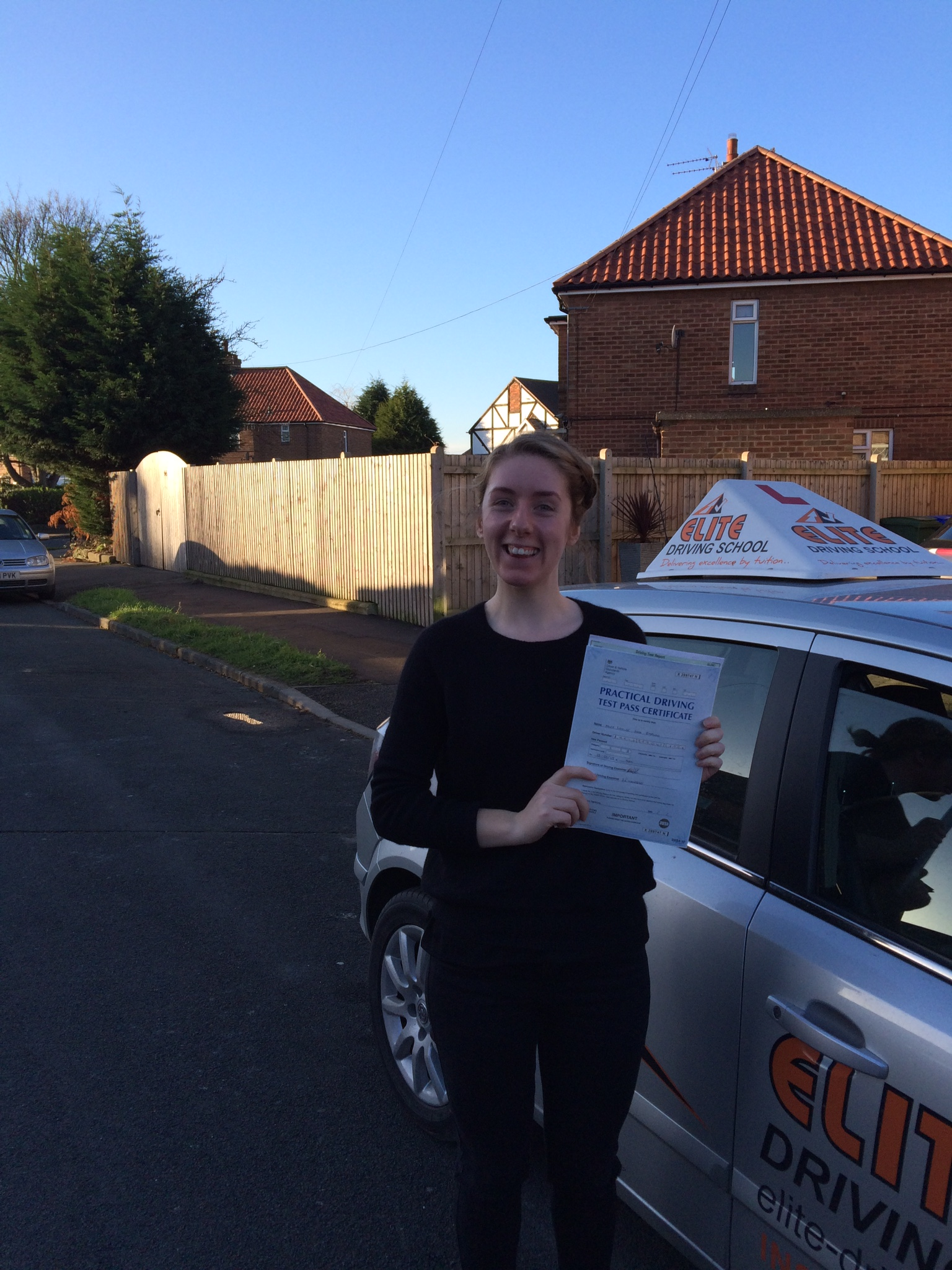 This is Louise Barlow who took her driving lessons in York