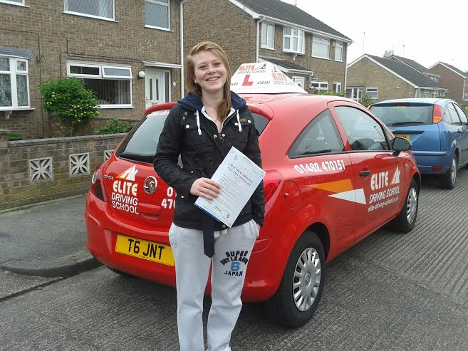 This is Sarah Maitland who took her driving lessons in Hull