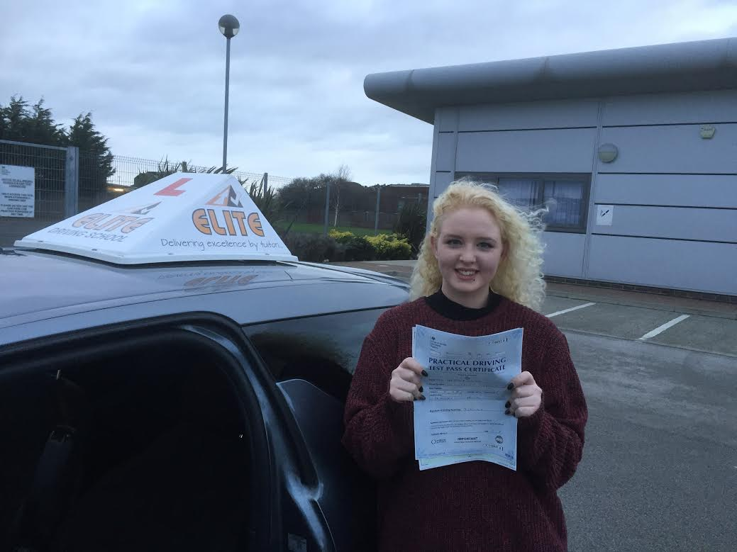 This is Zoe Carver who took her driving lessons in Hull