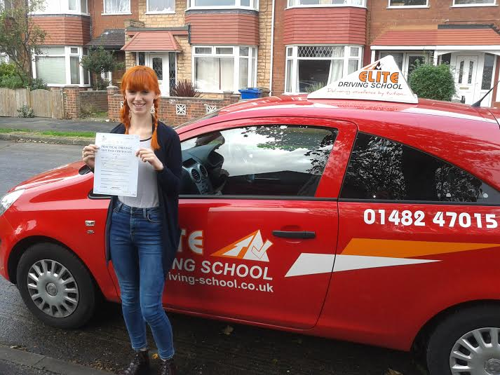 This is Sophie Plaschke who took her driving lessons in Hull