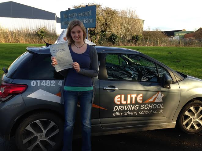 This is Kim Hornshaw who took her driving lessons in Hull