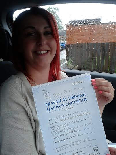 This is Rachel Pardon who took her driving lessons in Hull