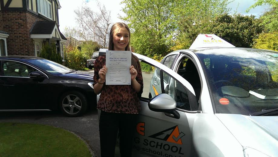 This is Olivia Frost who took her driving lessons in Hull