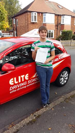 This is Matthew Hall who took his driving lessons in Hull