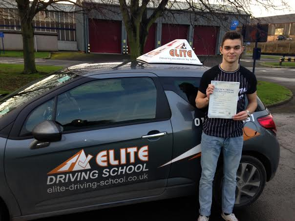 This is Aaron Duffy who took his driving lessons in Hull