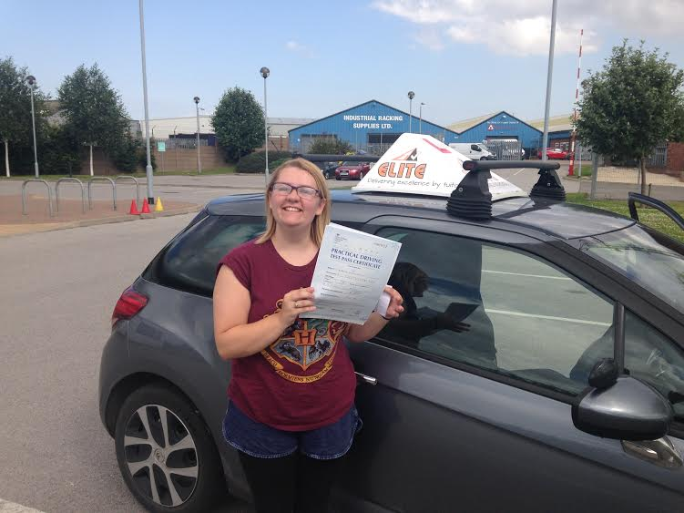 This is Ellie Olivant who took her driving lessons in Hull