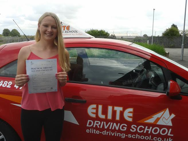 This is Jemma Purfield who took her driving lessons in Hull